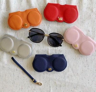 素色墨鏡眼鏡掛包眼鏡袋(11色) (3.7折)