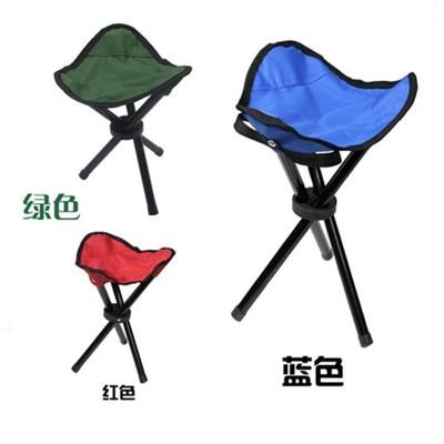 折疊三角椅 戶外便攜折疊凳子露營凳折疊三角沙灘椅三角釣魚收納椅 三色隨機出貨 (1.7折)