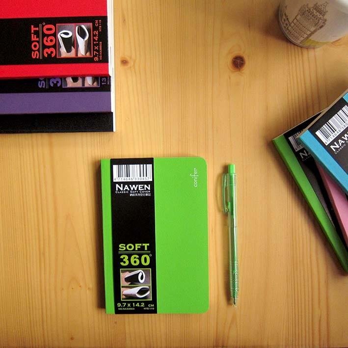年度經典 納紋系列50k軟皮空白筆記本