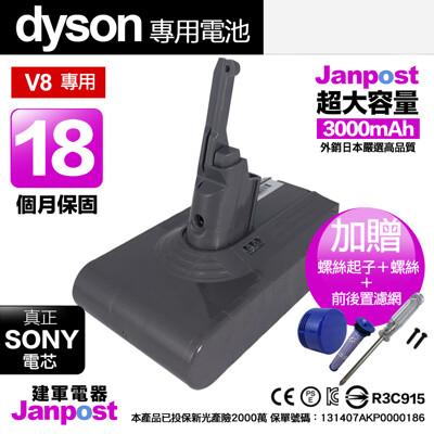 Janpost dyson v8 sv10 系列 副廠電池維修 保固18個月 SONY電芯 建軍電器 (6.1折)