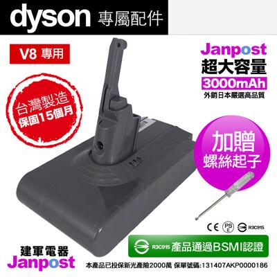 Janpost dyson v8系列 副廠電池維修 保固15個月 SONY電芯(日版需修改) (5.3折)