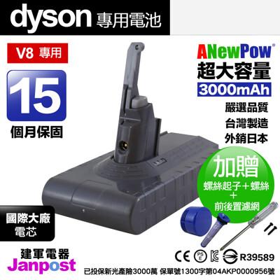 新銳動能 Dyson V8 SV10 系列 大容量3000mAh 電池 副廠電池 (5折)
