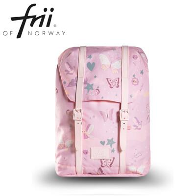 挪威Frii輕量護脊書包(2020新款)-Butterflies 蝴蝶粉 (8.3折)