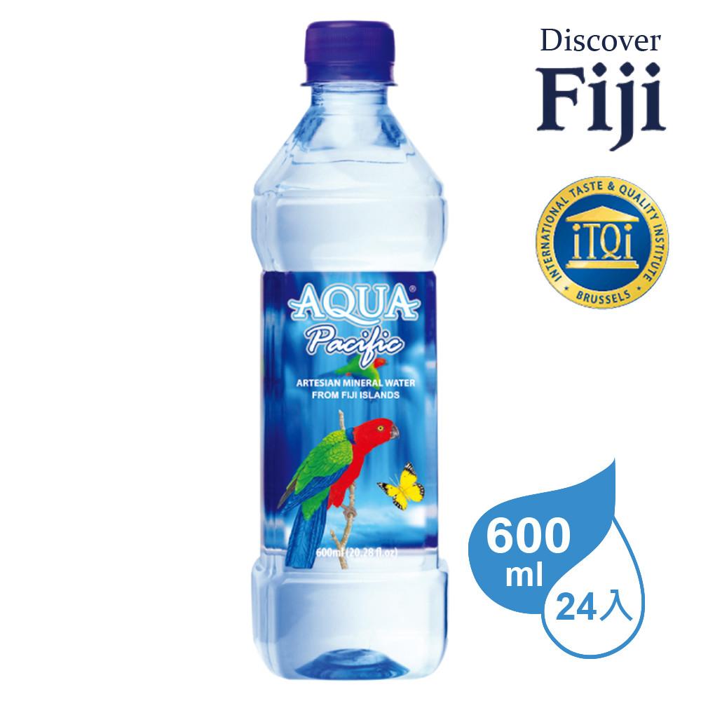 aqua pacific 斐濟太平洋天然純淨礦泉水 600ml (24入/箱)