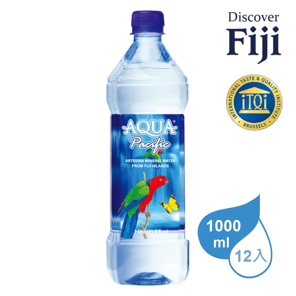aqua pacific 斐濟太平洋天然純淨礦泉水 1000ml (12入/箱)