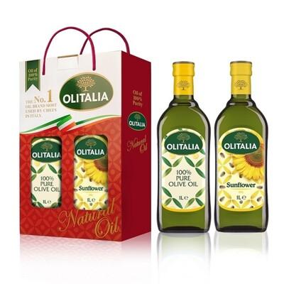奧利塔 葵花油橄欖油1L雙入組 (1Lx2瓶/盒) (9.9折)