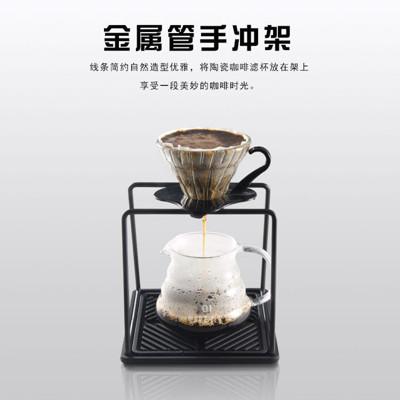 咖啡手沖組 V型濾杯+600ml雲朵壺+工形濾杯支架+350ml手沖壺 (2~4人份套組) (7.3折)