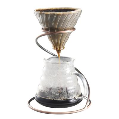 咖啡手沖組 V型濾杯+600ml雲朵壺+螺旋濾杯支架+350ml手沖壺 (2~4人份套組) (7.6折)