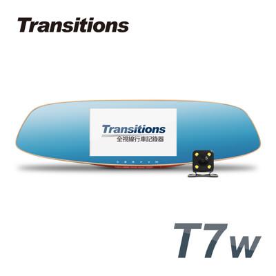 全視線 T7w 聯詠96658 HDR影像處理 Full HD 前後雙鏡頭後視鏡型行車記錄器 (2.7折)