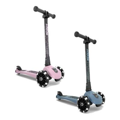 奧地利 Scoot&Ride Kick3 LED炫輪滑板車-玫瑰粉/岩石藍【佳兒園婦幼生活館】 (10折)