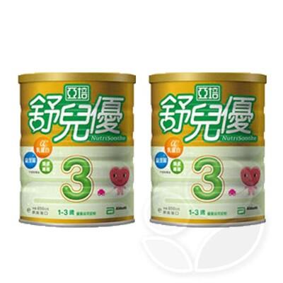 亞培 舒兒優 1-3歲幼兒優質成長奶粉850g【2罐】【佳兒園婦幼生活館】 (10折)
