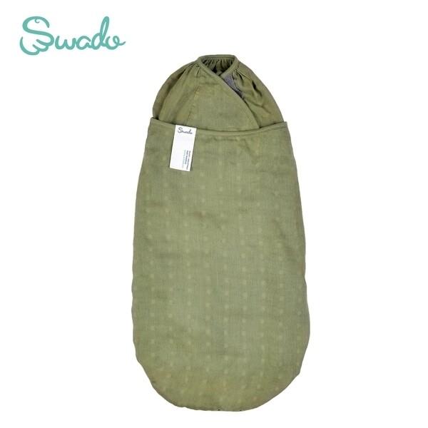 美國swado 全階段靜音好眠包巾 紗布竹纖棉款-橄欖綠 (s/m)佳兒園婦幼生活館