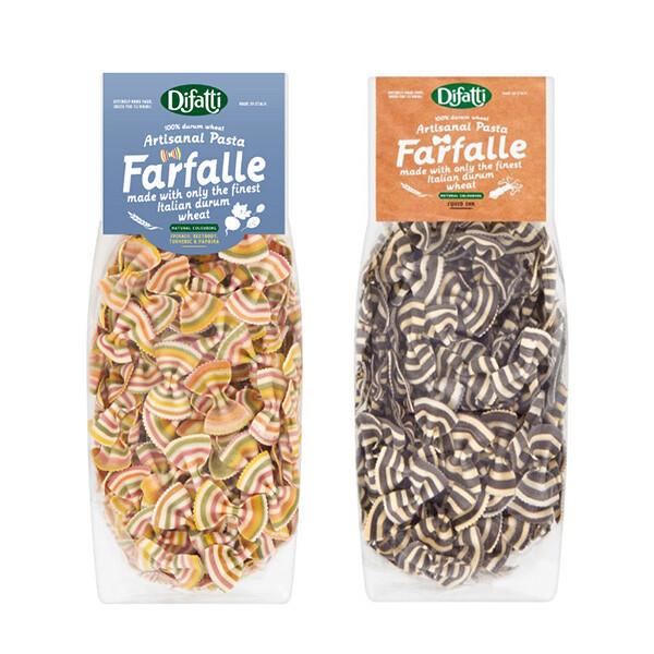 英國 little pasta 小小帕斯達 x difatti 蝴蝶結造型義大利麵-彩虹蔬菜/墨魚
