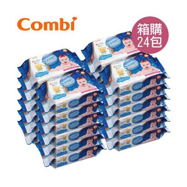 combi 康貝 海洋深層水嬰兒柔濕巾80抽箱購24包佳兒園婦幼生活館