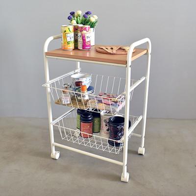 mit雙籃萬用廚房推車收納架 (4.4折)