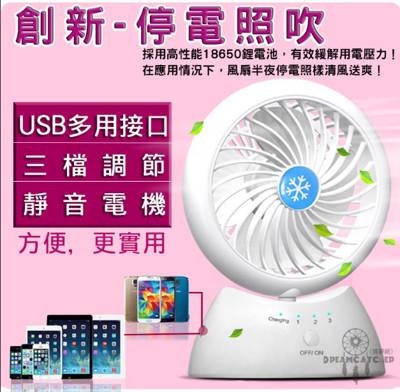 《獨家總代理-人工智慧扇》多功能續電風扇 USB風扇 迷你風扇 充電扇 USB小電扇 循環風扇 (5.8折)