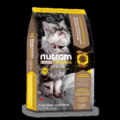 Nutram 紐頓 T22 無穀貓糧-火雞配方 6.8kg (6.4折)