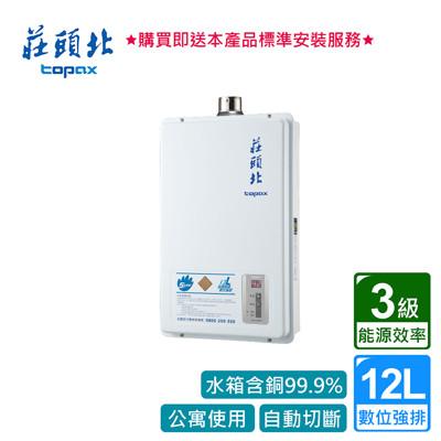 【泰浦樂】莊頭北_數位強排型熱水器12L_TH-7126FE (BA110005) (9折)