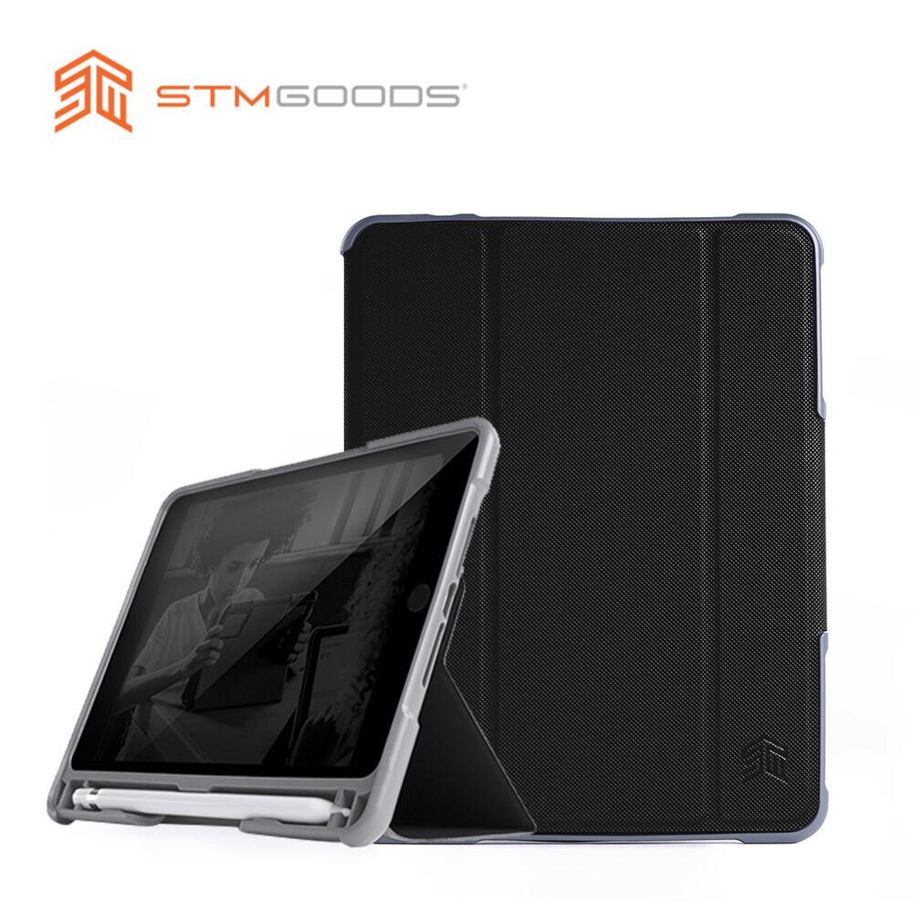 stmdux plus duo 系列 ipad mini 5 保護殼 內建筆槽 (黑)