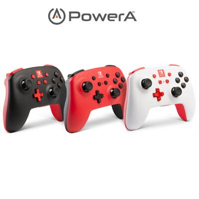 PowerA | Nintendo Switch 任天堂強化無線手把搖桿 (白、黑、紅) (10折)