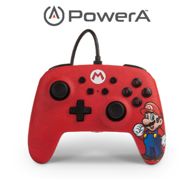 PowerA | Nintendo Switch 有線手把搖桿 馬力歐限定款 (10折)