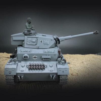 恆龍1:16 。2.4冒煙塑膠版(第二代電控版),二戰德軍4號F2/遙控坦克 , (7.6折)