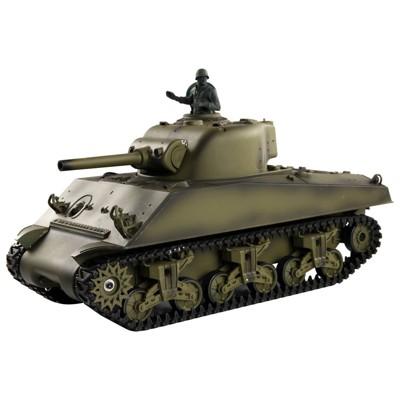 恆龍3898-1,美軍二戰M4A3,新版電控2.4G塑膠版 (7.9折)
