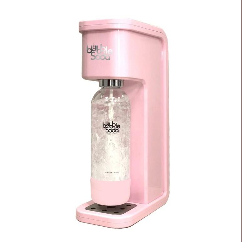 法國bubblesoda 全自動氣泡水機-花漾粉 bs-304(內含機器+60l氣瓶x1+1l水瓶