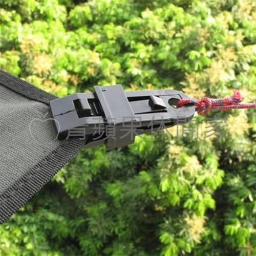 帳篷天幕夾 風繩固定夾 野營塑料夾 遮陽棚夾 帳篷天幕配件繩扣h021