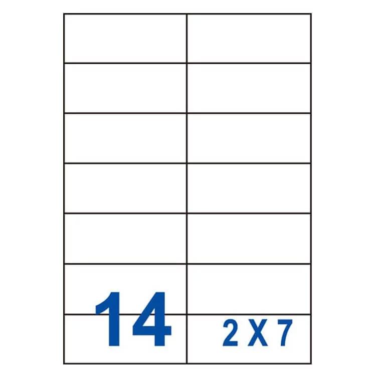 裕德unistar us4674 多功能白標14格(105x42.3mm)(100張/盒)