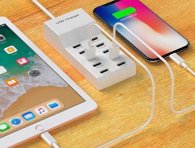手機充電器 10孔USB 多孔插座 手機充電插座 多口 多孔充電器 手機充電器 充電器5v2a (5.4折)