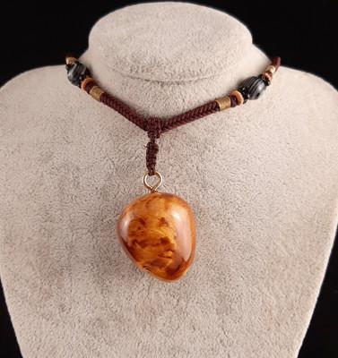 阿里山檜木墜子項鍊(B02)檜木瘤墜子.尊貴的獨一無二,獻給獨特的擁有者 (5.9折)