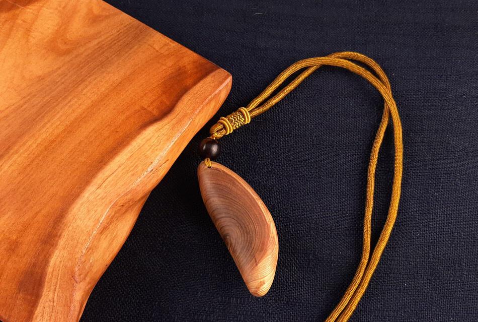 台灣紅檜年輪造形項鍊 c216 尊貴的獨一無二獻給獨特的擁有者