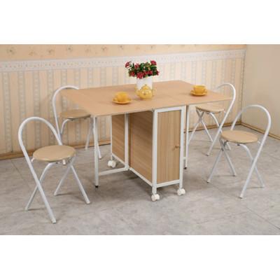 《C&B》方形折疊多用途蝴蝶桌椅組(一桌四椅) (8.5折)