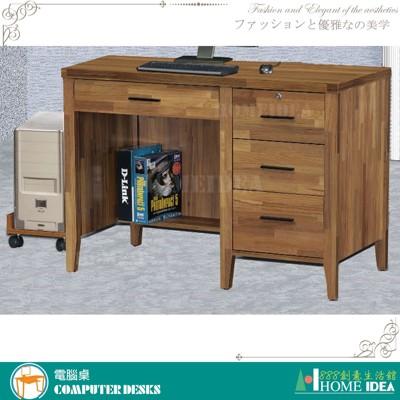399-X297-06詩肯3.5尺集層柚木色兩用桌(不含主機架/活動櫃) (8.4折)