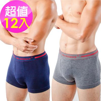 【3A-Alliance】 男性基本單色系列四角內褲 M4508 任選12入 (6.3折)