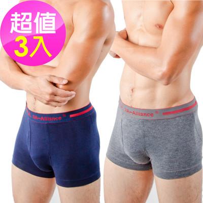 【3A-Alliance】 男性基本單色系列四角內褲 M4508 任選3入 (8.4折)