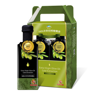 【博能生機】有機100%冷萃初榨橄欖油500毫升/瓶 2入禮盒組 (9.8折)