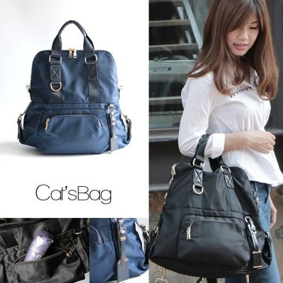 [ Catsbag ] 韓國多背法錐型可折式造型水滴包後背包 (3.1折)
