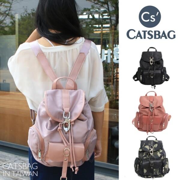 [ catsbag ] 韓國經典馬蹄扣水桶後背包