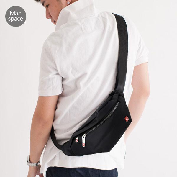manspace 極輕便隨身斜背包腰包 3c包 胸包