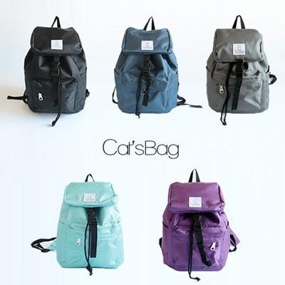 Catsbag 品牌設計款輕巧純色防水尼龍後背包 (3折)