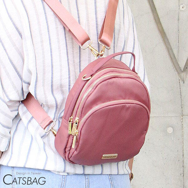 [ catsbag ]乾燥玫瑰三層二用蛋包|後背包|斜背包