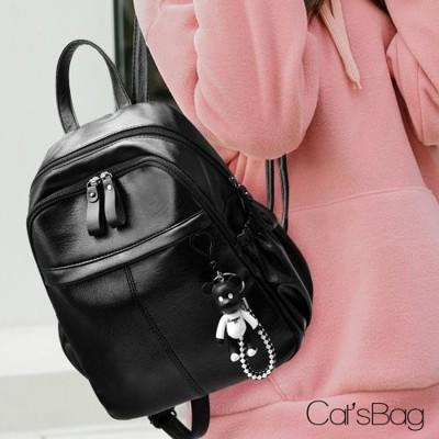 [ Catsbag ] 立體小熊吊飾多層收納後背包 (4.7折)