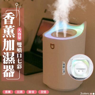 次氯酸水適用3l大容量雙噴頭七彩香薰加濕器 (5折)