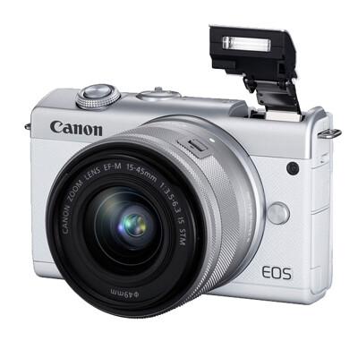 Canon M200 15-45mm KIT大全配 公司貨-白 贈64G+包+反折腳架+電池充電組 (8.5折)