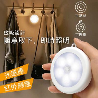 智能LED磁吸式迷你感應燈 電池式 (4.5折)