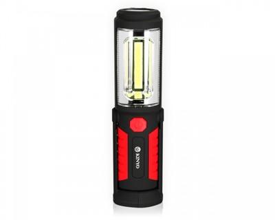 【KINYO】LED-201 高亮度雙向照明工作燈手電筒 360度隱藏式掛勾 防滑握把 (4.5折)