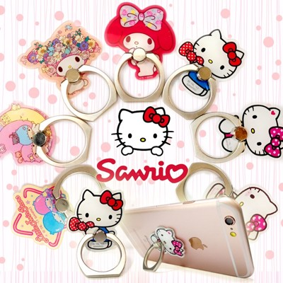 360度旋轉 手機 平板 造型指環支架 Hello Kitty KiKi LaLa Melody (3.1折)