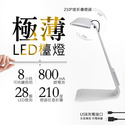 北歐風 極簡 觸摸式USB充電LED護眼檯燈 (6.2折)